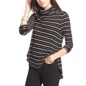We The Free People Top Turtleneck Striped Thermal